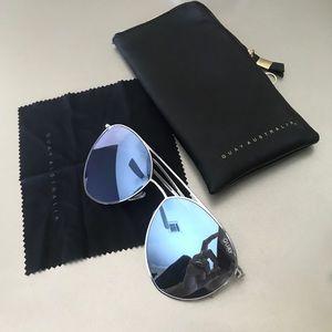 QUAY Reflective Aviator Sunglasses